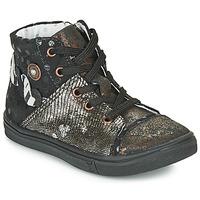 Schoenen Meisjes Hoge sneakers Catimini ROUSSEROLLE Zwart / Goud