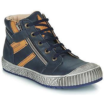 Schoenen Jongens Hoge sneakers Catimini RAMBOUTAN Marine / Oker