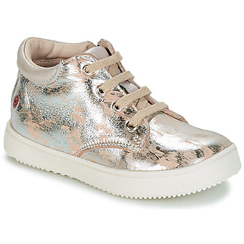 Schoenen Meisjes Hoge sneakers GBB SACHA Beige / Zilver