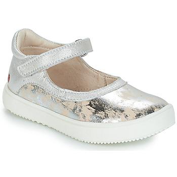 Schoenen Meisjes Ballerina's GBB SAKURA Zilver / Beige