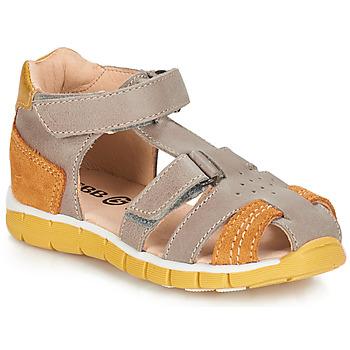 Schoenen Jongens Sandalen / Open schoenen GBB SPARTACO Grijs / Oranje