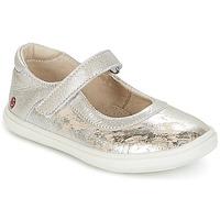 Schoenen Meisjes Ballerina's GBB PLACIDA Vte /  beige-argent / Dpf