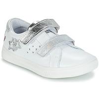 Schoenen Meisjes Hoge laarzen GBB SANDRA Wit / Zilver