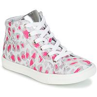 Schoenen Meisjes Hoge sneakers GBB SERAPHINE Grijs / Roze / Wit