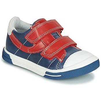 Schoenen Jongens Lage sneakers Catimini SORBIER Blauw / Rood