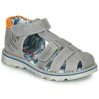 Schoenen Jongens Sandalen / Open schoenen Catimini SYCOMORE Grijs / Oranje