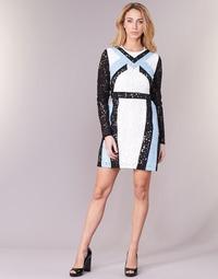 Textiel Dames Korte jurken Morgan RLIXI Wit / Zwart / Blauw
