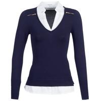 Textiel Dames Truien Morgan MYLORD Blauw / Wit