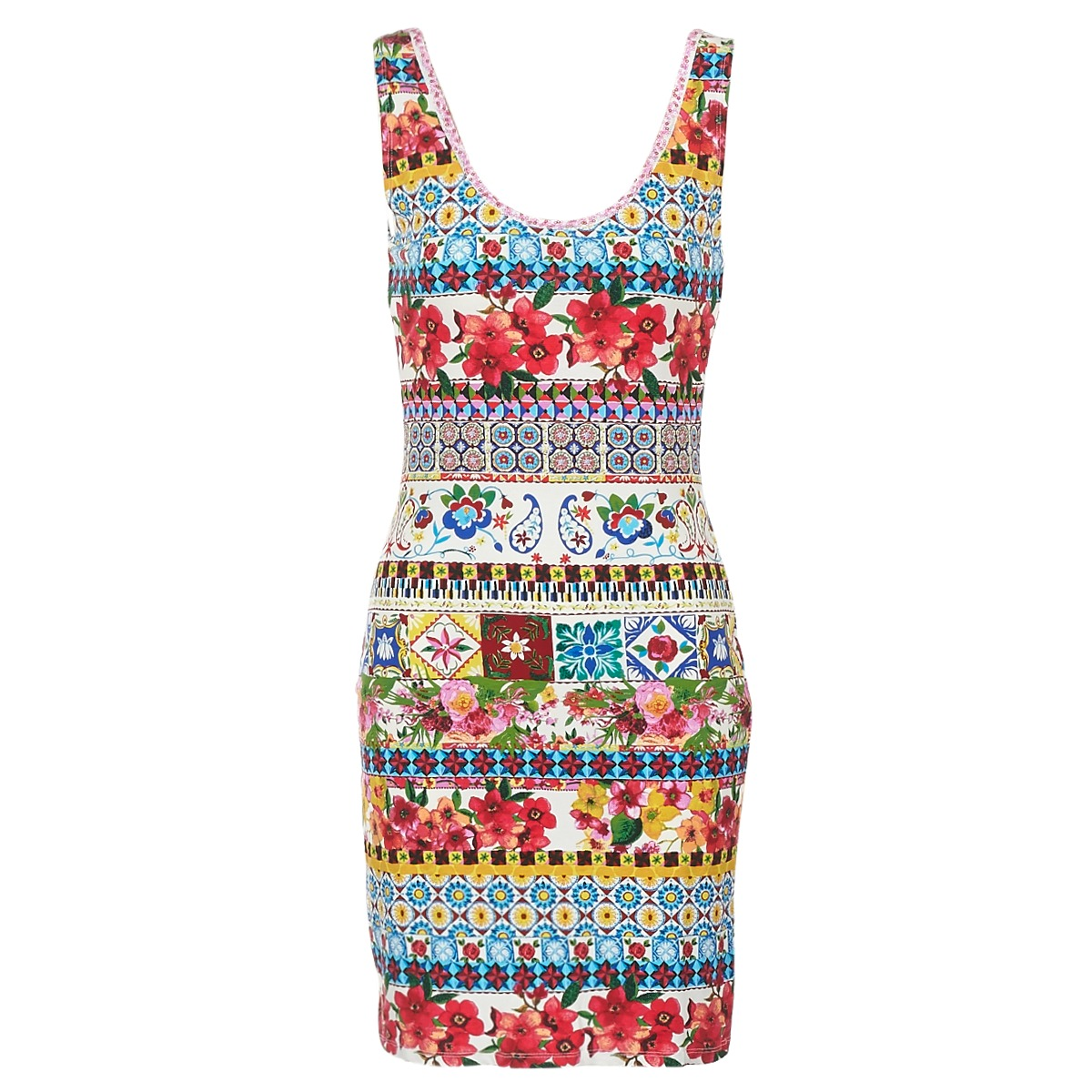 Desigual korte jurk oconde multicolour