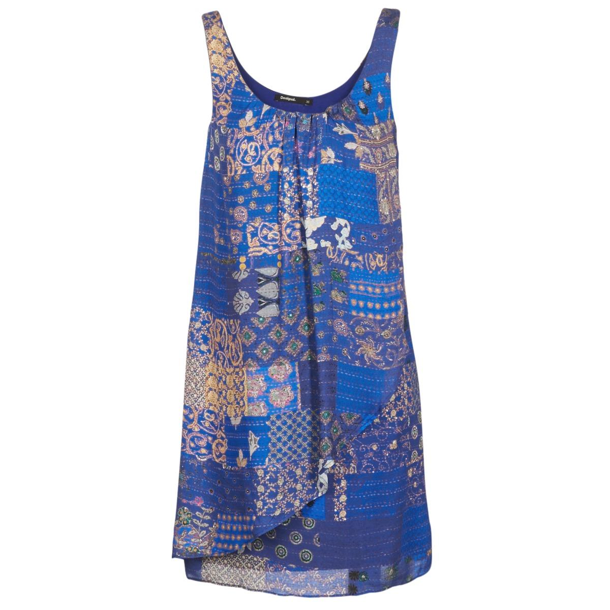 Desigual korte jurk offoela blauw