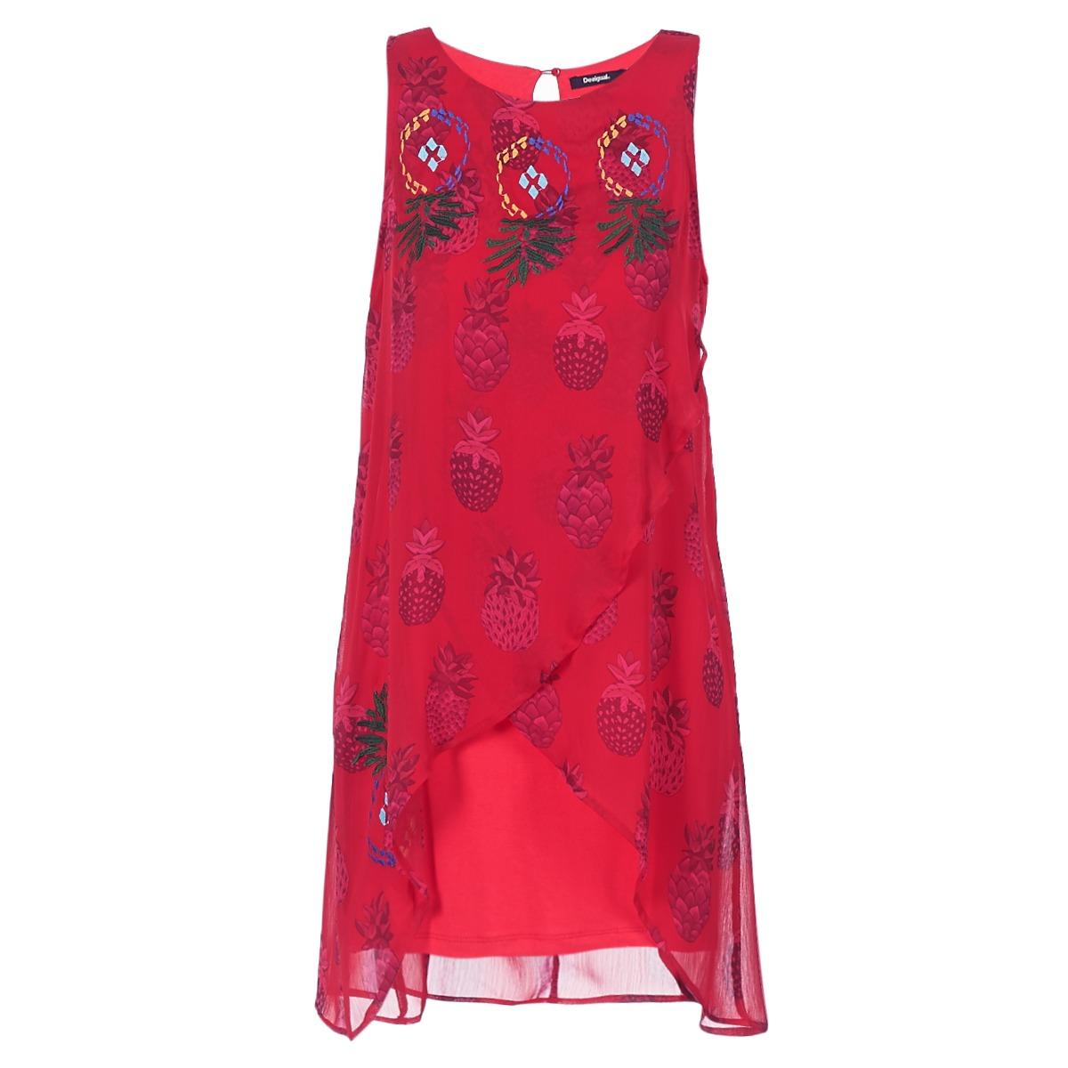 Desigual korte jurk dorije rood