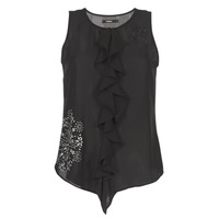 Textiel Dames Mouwloze tops Desigual POALDAOR Zwart