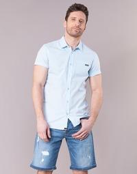 Textiel Heren Overhemden korte mouwen Kaporal LOGIK Blauw