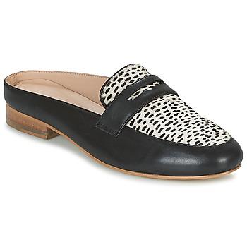 Schoenen Dames Leren slippers Maruti BELIZ Zwart / Wit