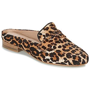 Schoenen Dames Leren slippers Maruti BELIZ Bruin / Zwart