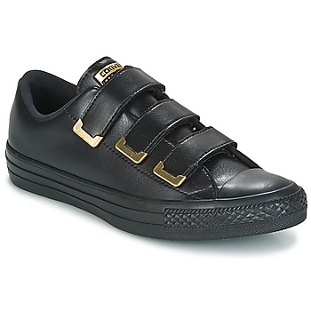 Schoenen Dames Lage sneakers Converse Chuck Taylor All Star 3V Ox SL + Hardware Zwart / Goud