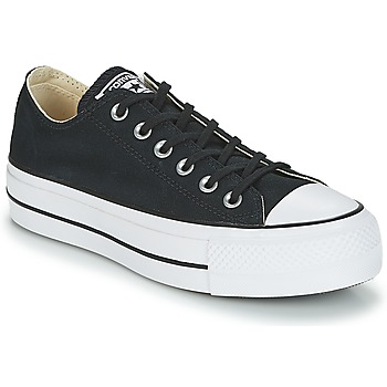 Schoenen Dames Lage sneakers Converse Chuck Taylor All Star Lift Clean Ox Core Canvas Zwart