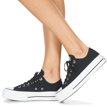 8c427d03e75 Schoenen Dames Lage sneakers Converse Chuck Taylor All Star Lift Clean Ox  Core Canvas Zwart stopcontact
