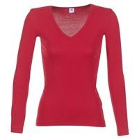 Textiel Dames T-shirts met lange mouwen Petit Bateau  Rood