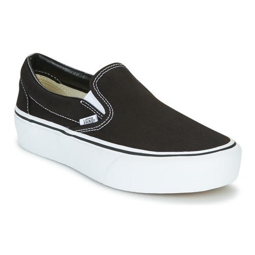 Schoenen Dames Instappers Vans SLIP-ON PLATFORM Zwart