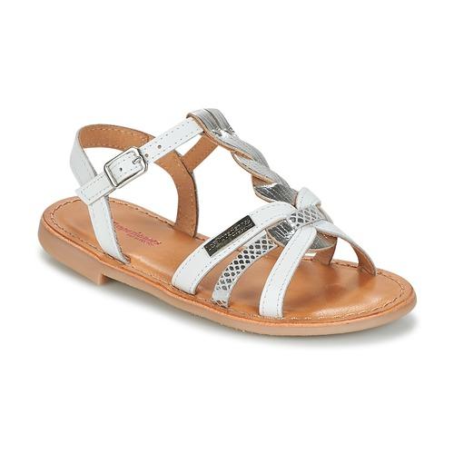 Schoenen Meisjes Sandalen / Open schoenen Les Tropéziennes par M Belarbi BADAMI Wit / Zilver