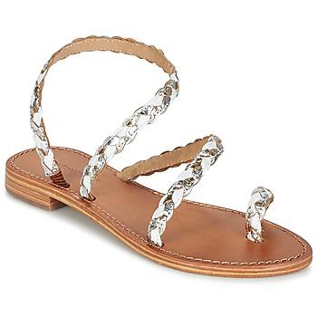 Schoenen Dames Sandalen / Open schoenen Les Tropéziennes par M Belarbi BALI Wit / Goud