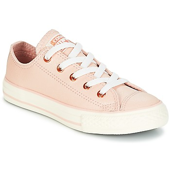 Schoenen Meisjes Lage sneakers Converse Chuck Taylor All Star Ox Fashion Leather Taupe