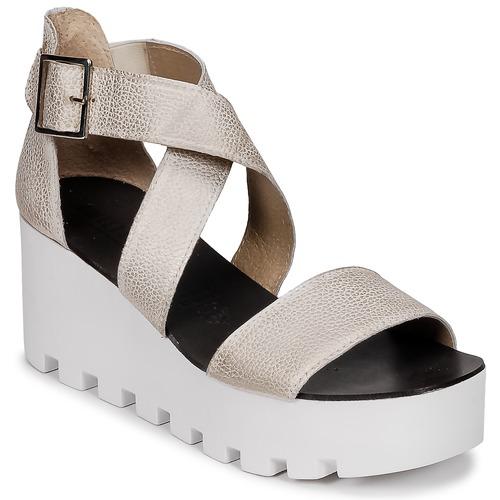 Schoenen Dames Sandalen / Open schoenen Sweet Lemon SUBWAY Zilver