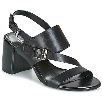Schoenen Dames Sandalen / Open schoenen Lauren Ralph Lauren FLORIN Zwart