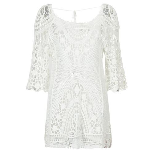 Textiel Dames Korte jurken Banana Moon MAGBY DREAMLAND Wit