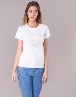 Textiel Dames T-shirts korte mouwen Converse CONVERSE CLEAR FOIL CHUCK PATCH CREW TEE Wit