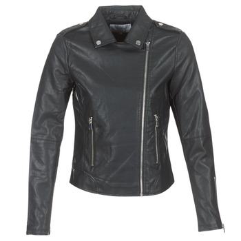 VILA Vicara faux leather jacket-noos 14044851 black zwart