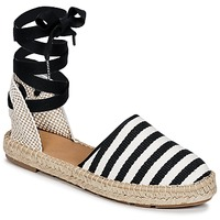 Schoenen Dames Espadrilles Betty London INANO Zwart / Wit