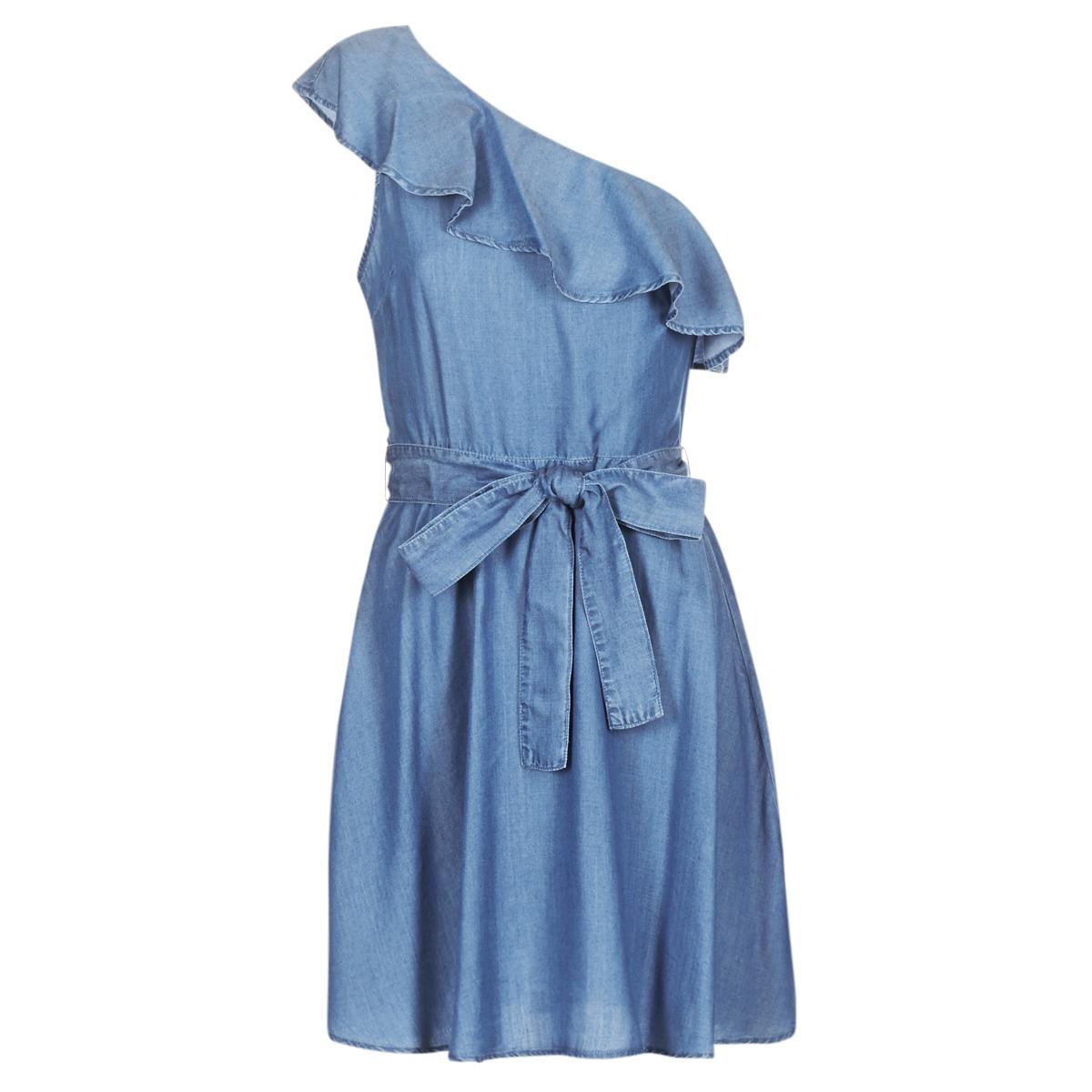 Michael Kors korte jurk one shldr ruffle drs blauw