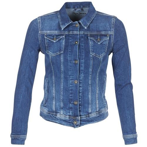 Textiel Dames Spijker jassen Pepe jeans THRIFT Blauw / Medium