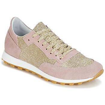 Schoenen Dames Lage sneakers Yurban CROUTA Roze / Goud