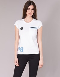 Textiel Dames T-shirts korte mouwen Philipp Plein Sport SITTIN OVER HERE Wit