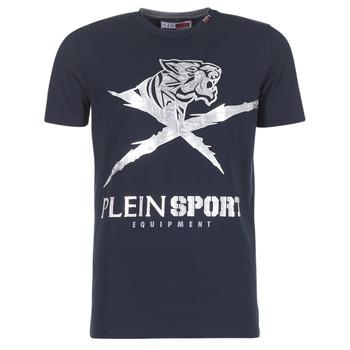 Textiel Heren T-shirts korte mouwen Philipp Plein Sport BORIS Marine / Zilver