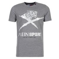 Textiel Heren T-shirts korte mouwen Philipp Plein Sport BORIS Grijs / Zilver