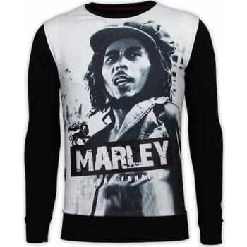 Textiel Heren Sweaters / Sweatshirts Local Fanatic Bob Marley - Digital Rhinestone Sweater 38
