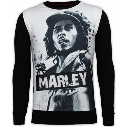 Textiel Heren Sweaters / Sweatshirts Local Fanatic Bob Marley Digital Rhinestone Zwart