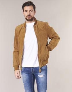Textiel Heren Leren jas / kunstleren jas Schott LC301 Cognac
