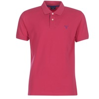 Textiel Heren Polo's korte mouwen Gant CONTRAST COLLAR PIQUE RUGGER Roze