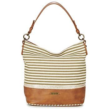 Tassen Dames Handtassen lang hengsel David Jones JOTI Groen / Bruin