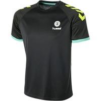 Textiel Heren T-shirts korte mouwen Hummel Maillot  Trophy noir/vert/jaune