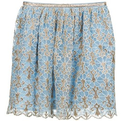 Textiel Dames Rokken Manoush ARABESQUE Blauw / Goud