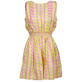 Textiel Dames Korte jurken Manoush FLAMINGO Roze / Fluo / Geel