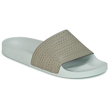 Schoenen slippers adidas Originals ADILETTE Beige / Groen