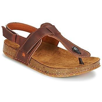 Schoenen Dames Sandalen / Open schoenen Art WE WALK Bruin