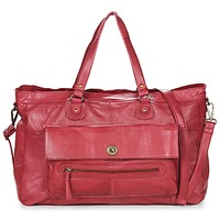 Tassen Dames Handtassen lang hengsel Pieces TOTALLY ROYAL LEATHER TRAVEL BAG Bordeau